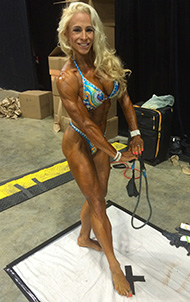 Tracy Nelson Tan Spray Tanning Competition Body Building Fitness Figure